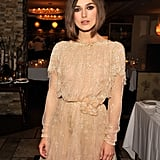 Keira Knightley in lace.