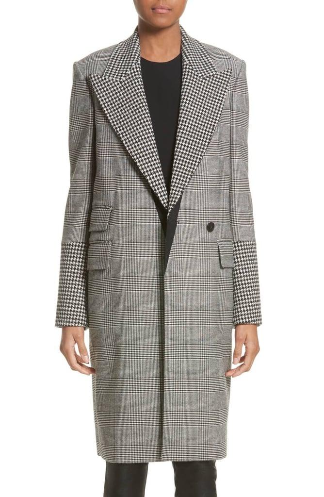 Stella McCartney Houndstooth & Glen Plaid Coat