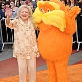 Betty White hung out with the Lorax at their big premiere.