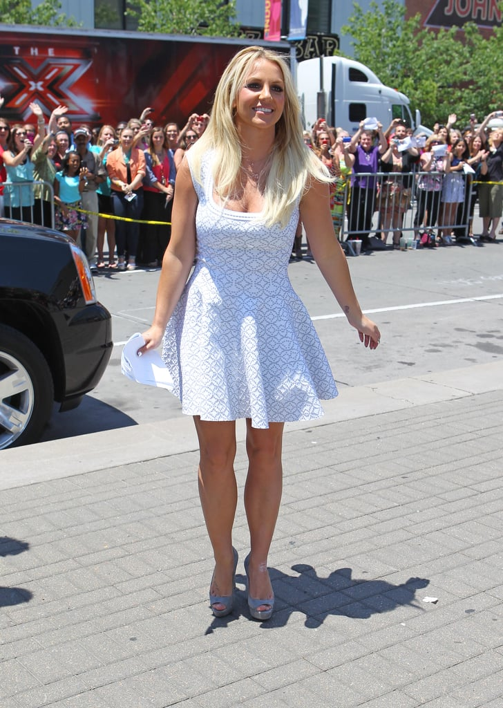 Britney Spears was greeted by fans.