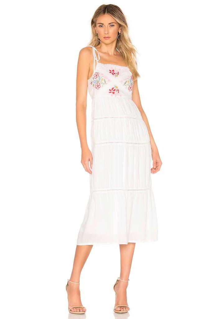 c705bd64f3f9 Lovers + Friends Tally Midi Dress in White | Best Travel Dresses ...