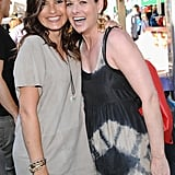 Mariska Hargitay and Debra Messing goofed around at the 2013 Baby Buggy Bedtime Bash.