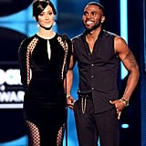 Emmy Rossum and Jason Derulo presented an award together.