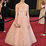 Wowing at the Oscars in tea-length Marchesa.
