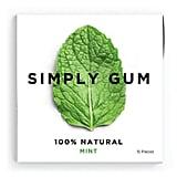 Simply Gum Natural, Vegan Chewing Gum, Peppermint