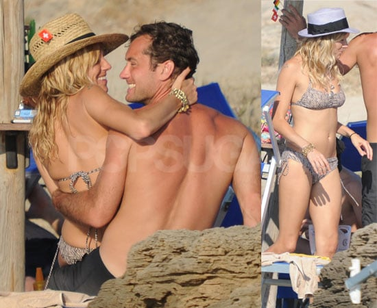 Pictures of Sienna Miller in a Bikini and Jude Law Shirtless