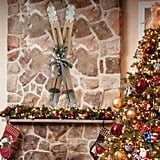 Natural Christmas Ski Wall Decor