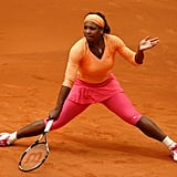 Serena Williams Wearing Pink Pants at the Madrid Open in 2010