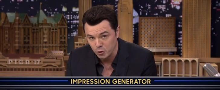 Seth MacFarlane's Celebrity Impressions on The Tonight Show