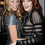 Blake Lively and her pal Florence Welch posed at a Chanel dinner during Paris Fashion Week in March 2011.