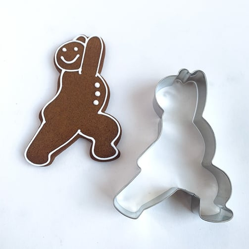 Metal Warrior Pose Yoga Cookie Cutter
