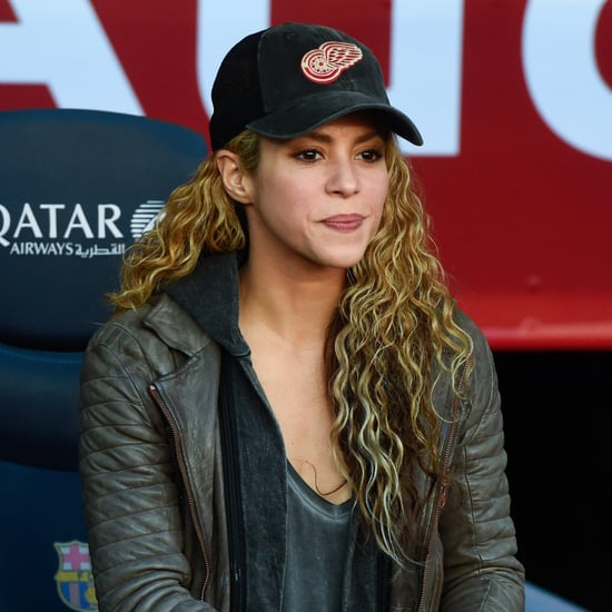 Shakira's Funny Face Expressions Watching Soccer April 2017
