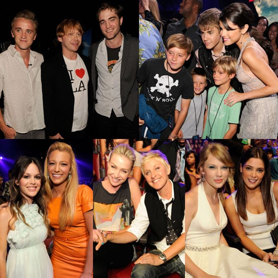 Justin and Selena Smile With the Beckhams as Rob Says Hi to Potter Pals During the TCAs!