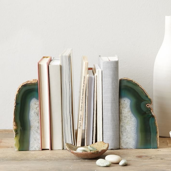 West Elm Agate Stone Bookends