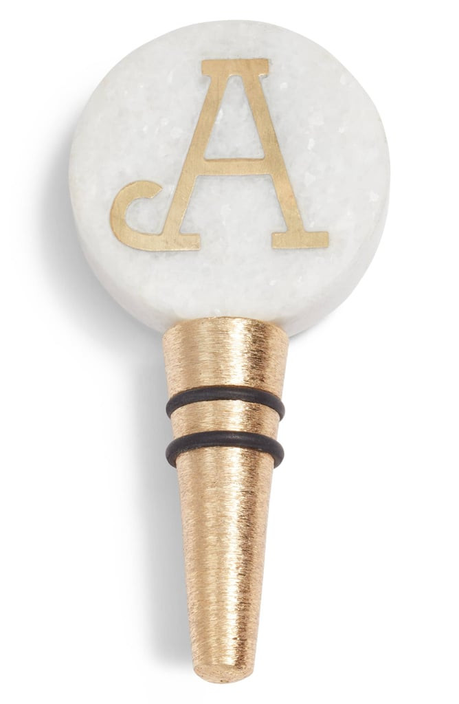 Nordstrom at Home Monogram Marble Bottle Stopper