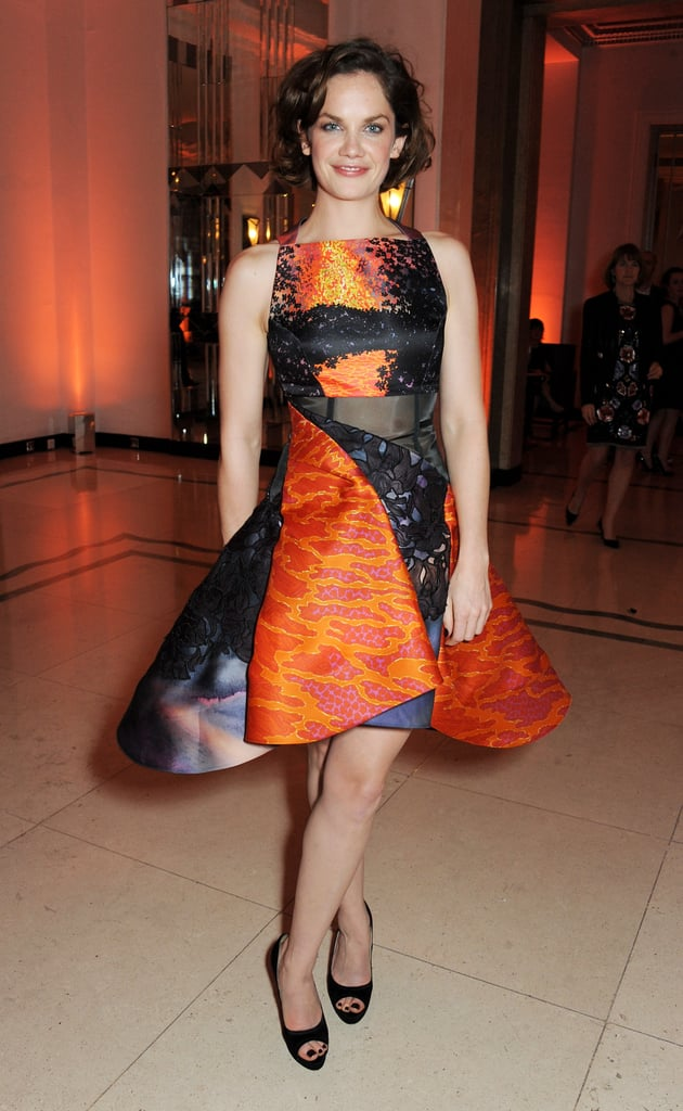 Ruth Wilson wore a structured dress by Peter Pilotto.