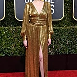 Lucy Boynton at the 2019 Golden Globes