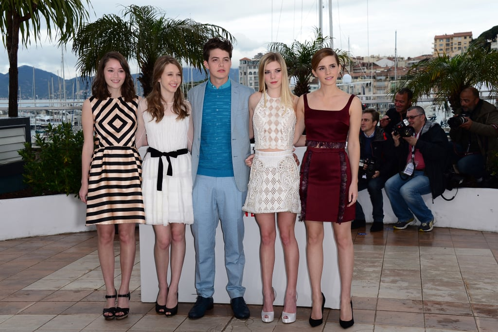 On Thursday, Emma Watson posed with her Bling Ring costars Katie Chang, Taissa Farmiga, Israel Broussard, and Claire Julien.
