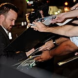 Aaron Paul greeted fans at the Emmys.