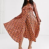 ASOS Design Curve Wrap Snake Print Dress