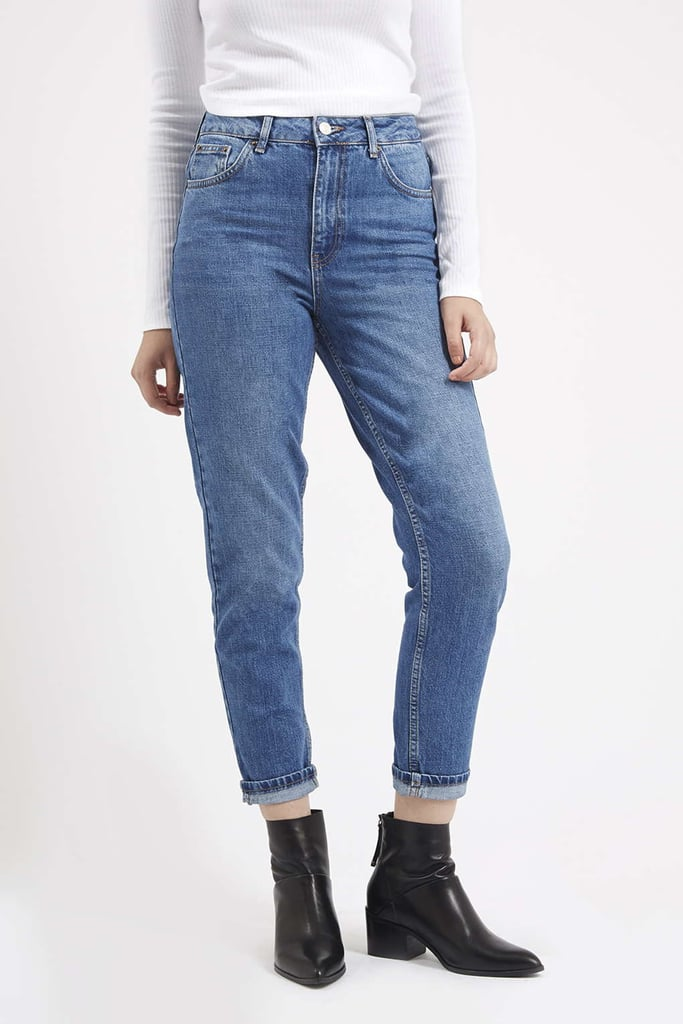 Topshop Moto Authentic Blue Mom Jeans ($70)