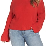 Leith Transfer Stitch Turtleneck Sweater