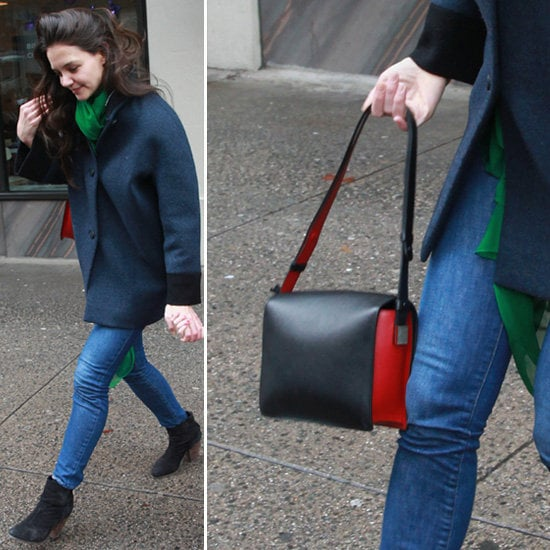 Wondering what Katie Holmes wore on her birthday? Oh, just an ultracool Balenciaga coat — no big deal.