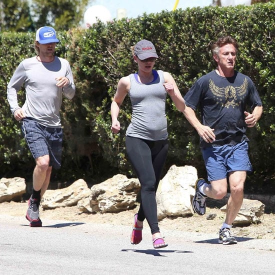 Sean Penn and Scarlett Johansson Jog With Owen Wilson