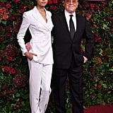 Ella Balinska and Michael Kors at the 65th Evening Standard Theatre Awards