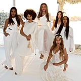 Bianca, along with Beyoncé, Solange, Kelly Rowland, and Angie Beyince, served as Tina's bridemaids during her wedding to Richard Lawson.