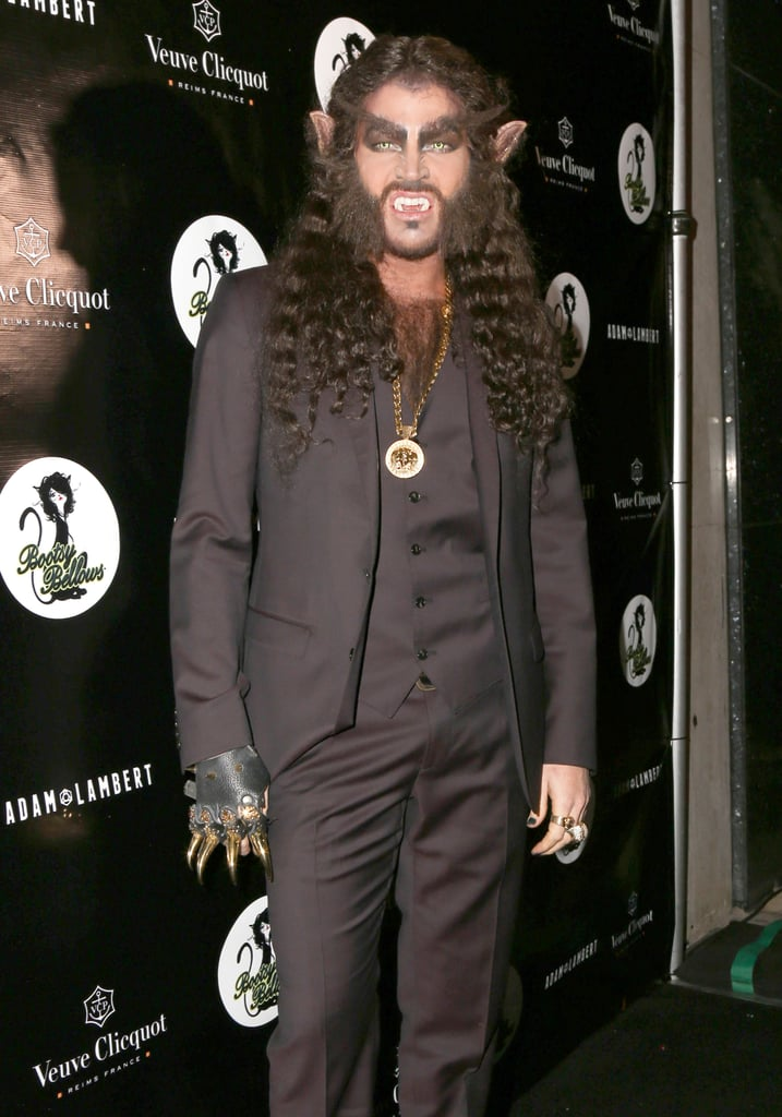 In 2014, Adam Lambert threw a Halloween bash as Wolf Man at Bootsy Bellows in LA.