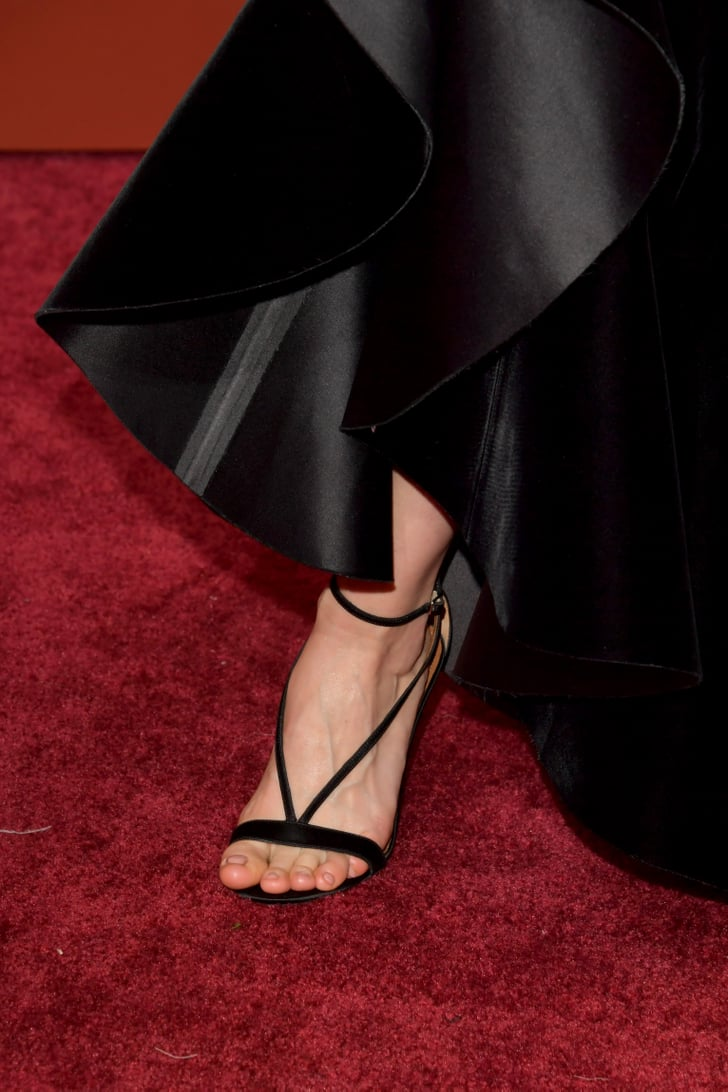 When Brie Larson S Heels Almost Matched Alicia S Oscars