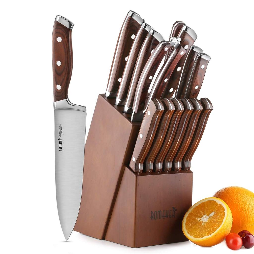 Romeker 15 Piece Kitchen Knife Set With Block Best Kitchen Knives On Amazon Popsugar Food Uk Photo 11