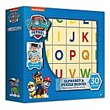 PAW Patrol Alphabet & Puzzle 30-Piece Wood Block Set