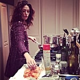 Emmy Rossum made dinner for her mom. Source: Instagram user emmyrossum
