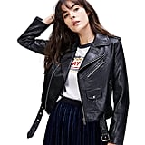 LY VAREY LIN Faux Leather Motorcycle Jacket