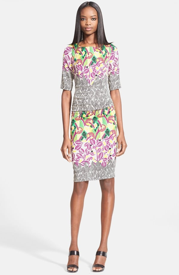 Tracy Reese Mixed Print Stretch Silk T-Back Dress ($348)