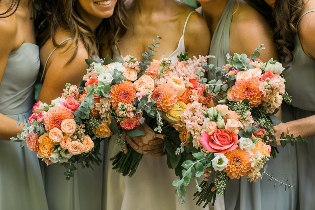 Bright Bridesmaid Arrangements