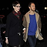 Anne Hathaway had Adam Shulman with her at the screening.