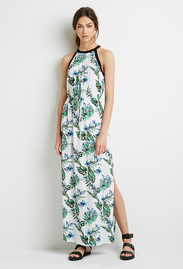 Forever 21 Tropical Print Maxi Dress 30 Blake Lively Tropical