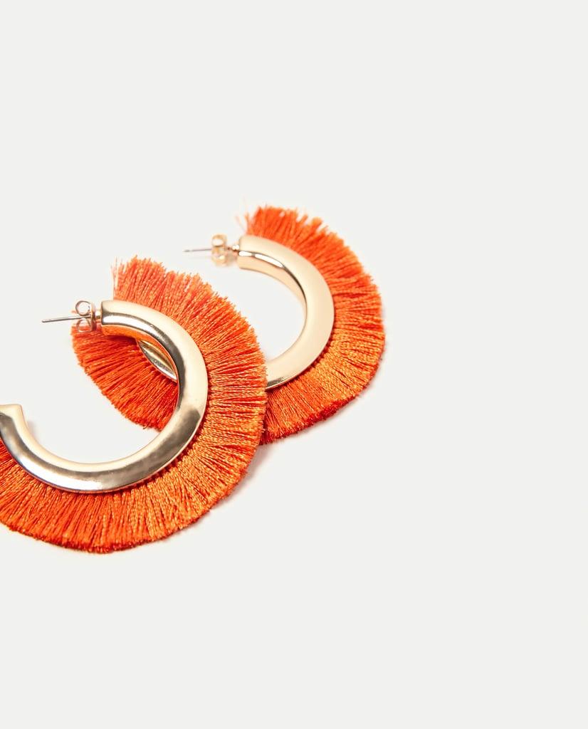 Zara Fringed Hoop Earrings