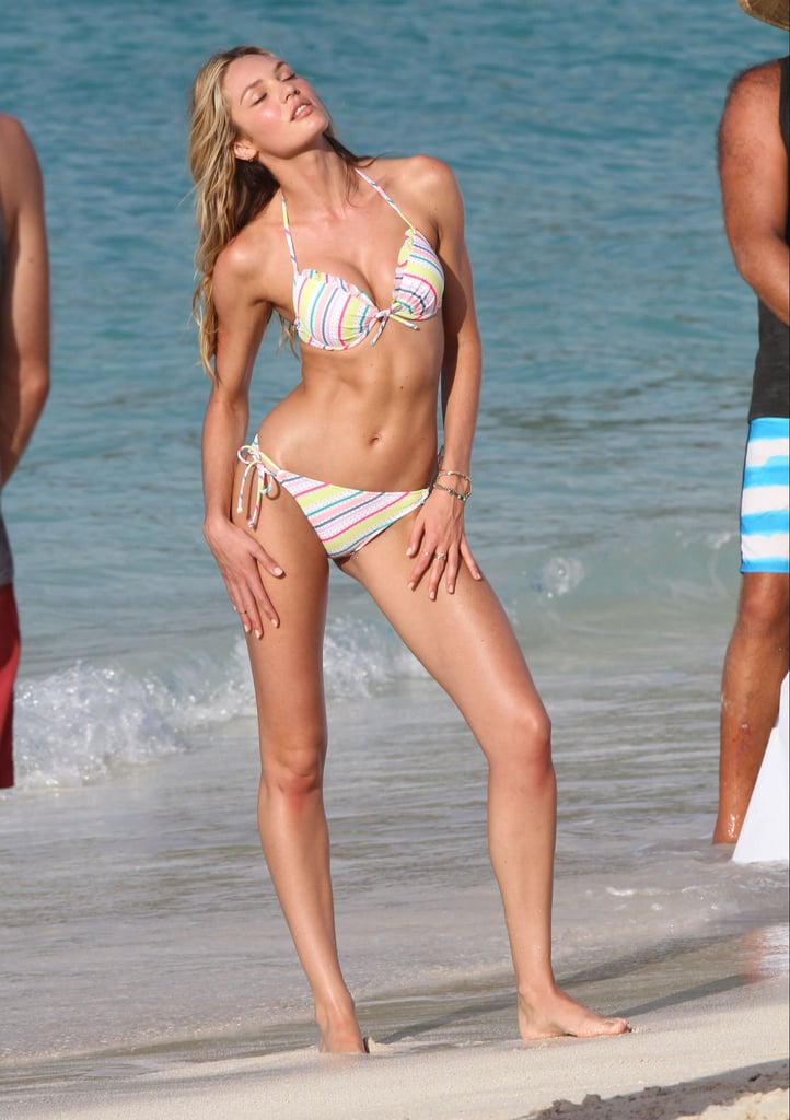 Candice Swanepoel Works It in a Bikini For a St. Barts Shoot