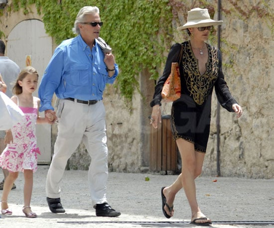 Photo Slide of Michael Douglas and Catherine Zeta-Jones Shopping with Daughter Carys in Mallorca
