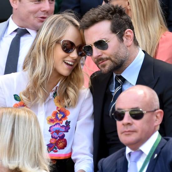 Bradley Cooper and Suki Waterhouse at 2014 Wimbledon