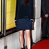 Victoria Wearing Her Victoria by Victoria Beckham Fall 2012 Collection