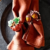 Williams Sonoma Pumpkin Cloisonné Napkin Ring