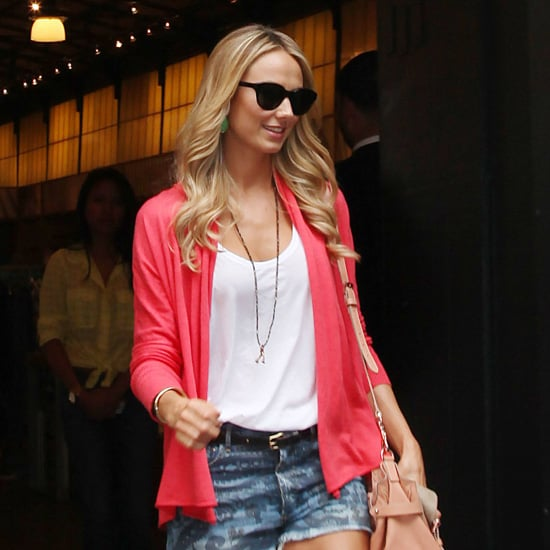 Stacy Keibler Wearing Denim Cutoffs