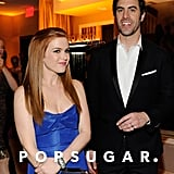 Isla Fisher and Sacha Baron Cohen spent time together at the Vanity Fair Oscar party on Sunday night.