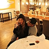 Beyoncé enjoyed a glass of wine while sitting on Jay Z's lap in May 2013. Source: Tumblr user Beyoncé