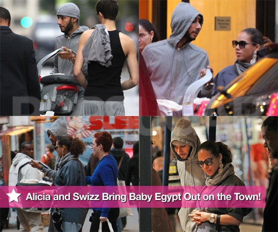 Pictures of Alicia Keys and Swizz Beatz in NYC With Son Egypt